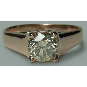 1.50 carat round brilliant diamond solitaire ring
